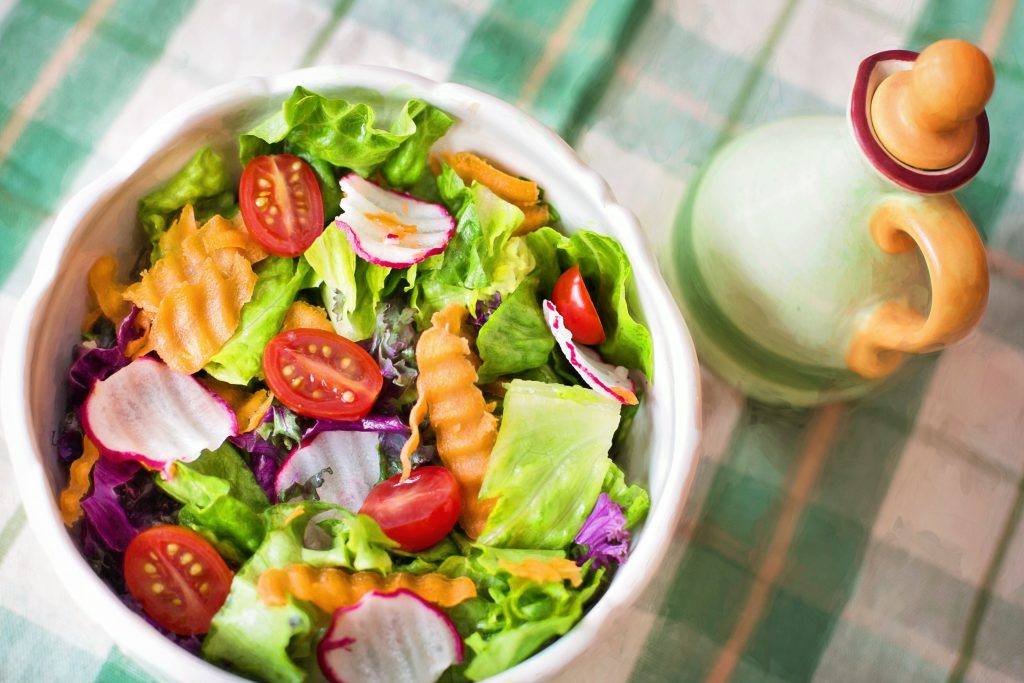colorful salad on a table