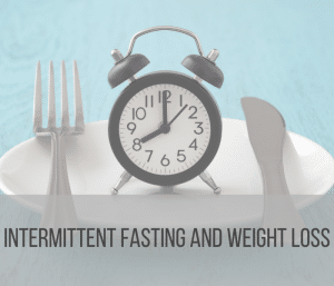 clock on a plate indicating fasting window