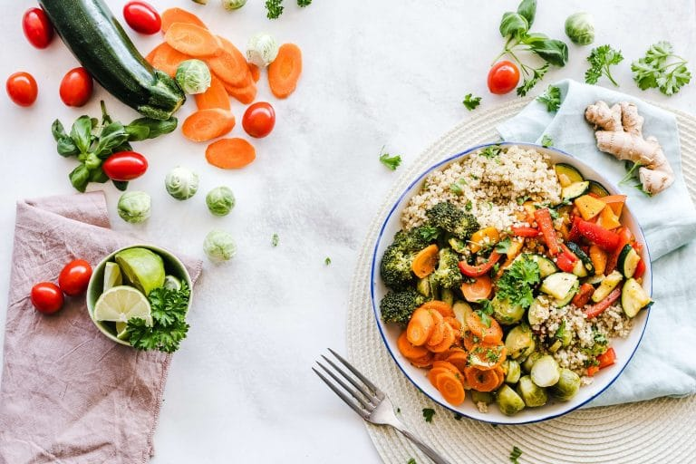Services Page Image with a bowl of colorful food